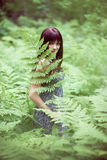 Forest dryad. Royalty Free Stock Images