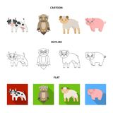 Forest, ecology, toys and other web icon in cartoon,outline,flat style.Animals, farm, enterprises icons in set. Forest, ecology, toys and other  icon in cartoon Stock Photography
