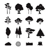 Forest Elements Black Photo stock