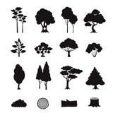 Forest Elements Black illustration stock