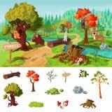 Forest Elements Concept illustration de vecteur