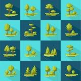 Forest Elements Flat Icons Set Photos libres de droits