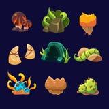 Forest Elements para el juego Sistema del vector Fotografía de archivo libre de regalías