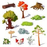 Forest Elements Set illustration libre de droits
