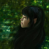 Forest elf Stock Images
