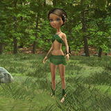 Forest Elf Girl Royalty Free Stock Photography