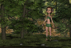 Forest Elf Girl Royalty Free Stock Image