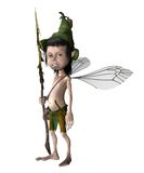 Forest fae 2. 3D render of a fantasy fae with wings vector illustration