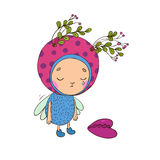 Forest Fairy with heart. On a white background. Vector illustration vector illustration
