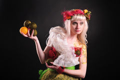 Forest fairy image. Studio shot Royalty Free Stock Photography