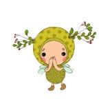 Forest Fairy op een witte achtergrond stock illustratie