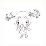 Forest Fairy op een witte achtergrond royalty-vrije illustratie