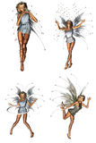 Forest Fairy Pack. A beautiful forest fairy pack - isolated on white Stock Images
