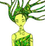 Forest Fairy Shaman vector illustratie