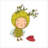Forest Fairy und Herz Lizenzfreies Stockfoto