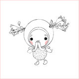 Forest Fairy on a white background. Hand drawing objects on white background. Vector illustration royalty free illustration