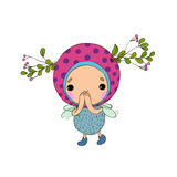 Forest Fairy on a white background. Vector illustration royalty free illustration