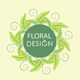 Forest fern. Floral greenery сard. For romantic design, announcements, greeting cards, posters, advertising Stock Photos