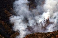 Forest fire. Firest fire below Pikes Peak in October 2007 Royalty Free Stock Photography