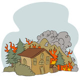 Forest Fire illustration stock