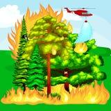 Forest Fire ilustração do vetor