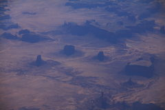 Monument Valley Arizona Aerial View Royalty Free Stock Images