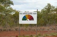 Forest Fire Danger Index - Austrália fotografia de stock