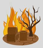 Forest fire icon image. Vector illustration design Royalty Free Stock Image