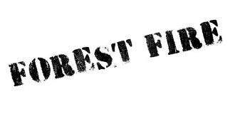 Forest Fire rubber stamp. Grunge design with dust scratches. Effects can be easily removed for a clean, crisp look. Color is easily changed Stock Photos