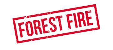 Forest Fire rubber stamp. On white. Print, impress, overprint Stock Images