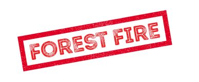 Forest Fire rubber stamp. On white. Print, impress, overprint Stock Photography