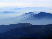 Forest Fire Smoke enche Prescott National Forest Foto de Stock