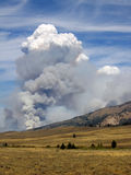 Forest Fire in Stanley. Forest Fire in the White Cloud Wilderness near Stanley, Idaho Stock Images