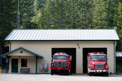 Forest Fire Station Royalty Free Stock Image
