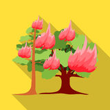 Forest fire vector icon in flat style for web Royalty Free Stock Photo