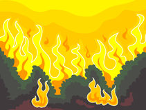 Forest Fire. Vector Illustration of Forest Fire Stock Photography