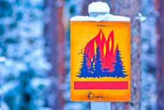 Forest fire warning sign Stock Images
