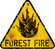 Forest fire warning sign,. Vector illustration Royalty Free Stock Image