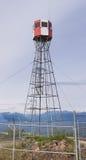 Forest fire watch tower near Tagish Yukon T Canada Stock Image