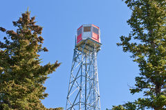 Forest fire watch tower steel lookout structure Stock Photography