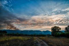 Forest fire in Zakynthos island. Forest fire in Zakynthos, Greece royalty free stock photos