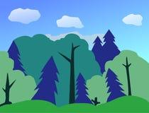 Forest Of Flat Landscape Artwork Illustration de Vecteur