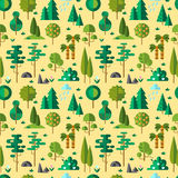 Forest flat Stock Images