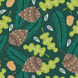 Forest florals pattern background Stock Photography