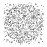 Forest flowers. Vector coloring book pages. Stock Photography