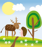 Forest friends Stock Photography