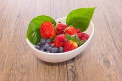 Forest Fruit. Strawberries, blueberries, raspberries Stock Images