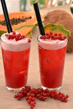 Forest fruit cocktail. Royalty Free Stock Images
