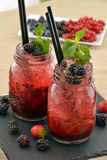 Forest fruit cocktail Royalty Free Stock Photos