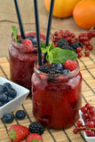 Forest fruit cocktail. Stock Photo